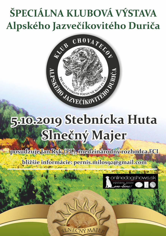 Read more about the article SpV AJD bez udeľovania CAC/CAJC Stebnícka Huta 2019